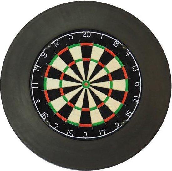 Afbeelding van het spel A-merk dartbord  met zwarte surround en scorebord