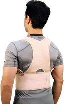 Verstelbare Therapeutische Rugband - Deze rugband helpt jou om de juiste houding aan te nemen waardoor pijn en vermoeidheid aanzienlijk verminderen - Beige - L/XL