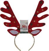 Rendier diadeem/haarband met stippen - Kerst rendier accessoires