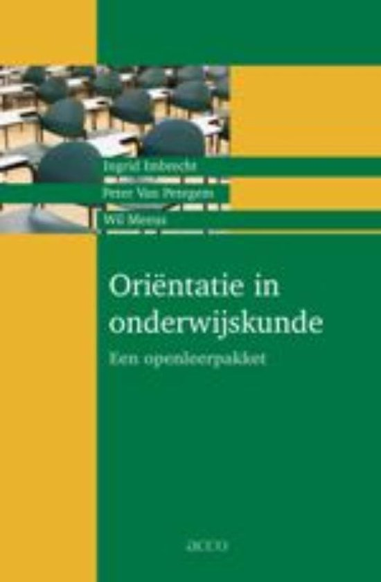 Orientatie in onderwijskunde - I. Imbrecht  