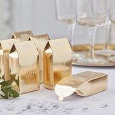 Biologisch afbreekbare bruiloft confetti - Goud - Sprinkle the love   5 doosjes