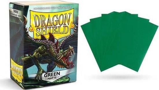 Afbeelding van het spel 100 hoesjes Dragon Shield MATTE Green Standaard Maat Card Sleeves