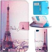 iCarer Eiffel tower wallet case hoesje Wiko Pulp 4G