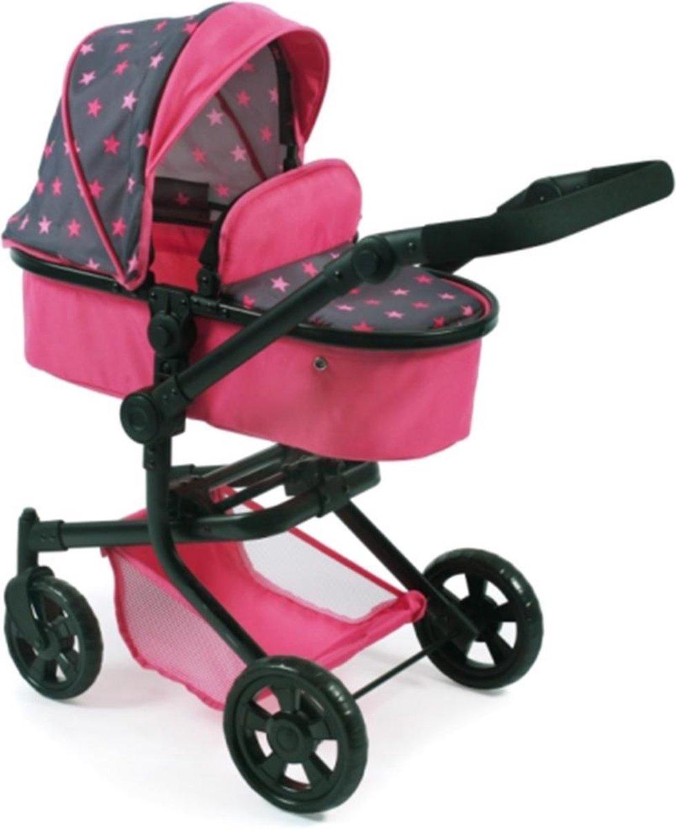 Poppen combi-wagen Mika Stenchen pink, 47-80 cm - Bayer Chic 2000