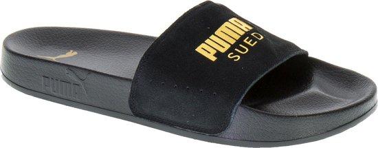 Puma Heren Slippers Leadcat Suede Men - Zwart - Maat 40+ - PUMA