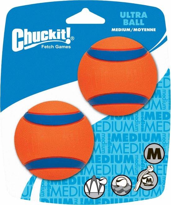Chuckit! - Ultra Ball - Hondenspeelgoed - Oranje - M - 2 ballen