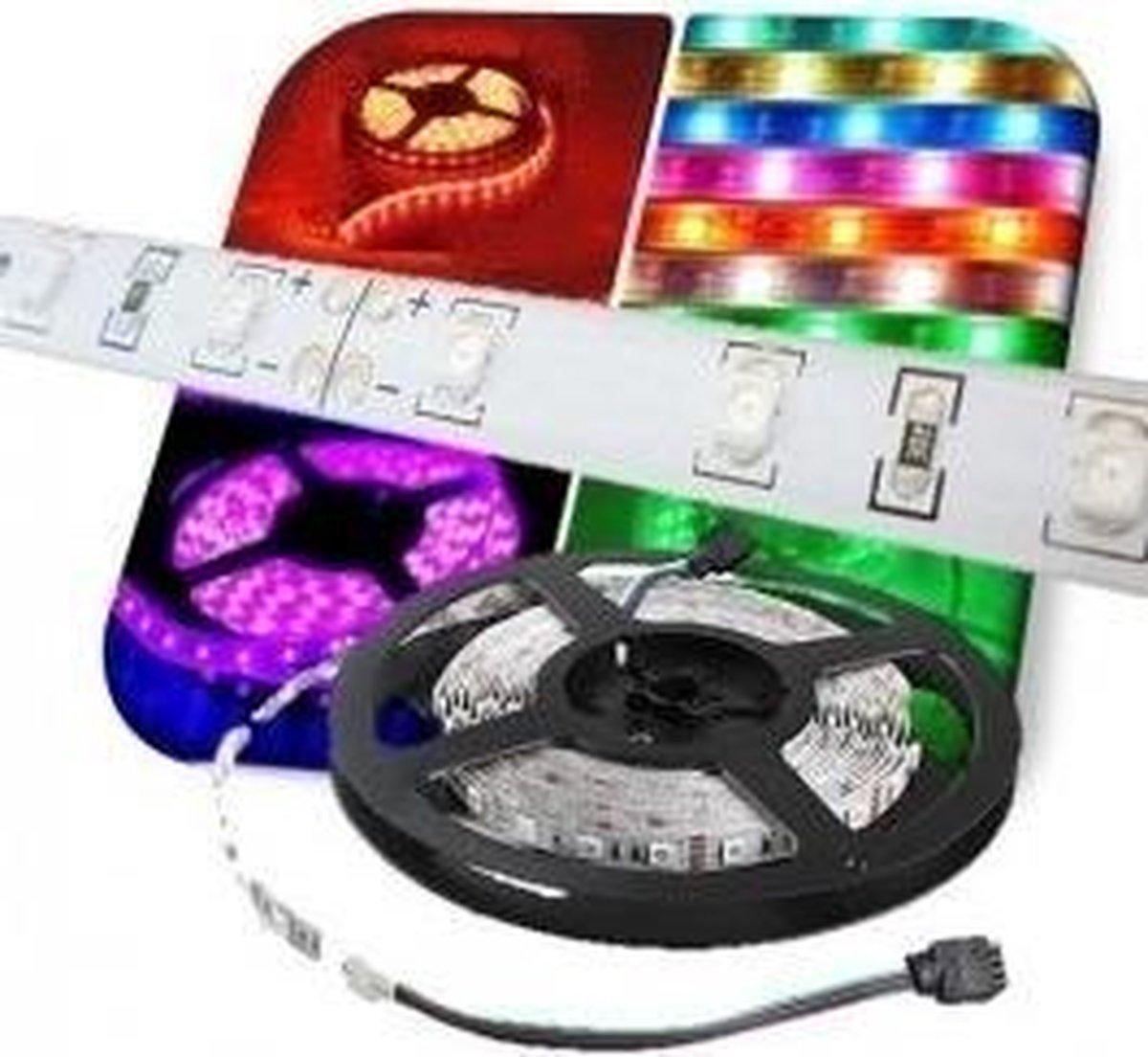 2 meter - RGB - LED strip - 12 volt - 5050 SMD - 60 LEDs per Meter - dimbaar