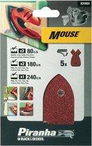 Piranha Schuurstroken Mouse, ass. 5 stuks X31024