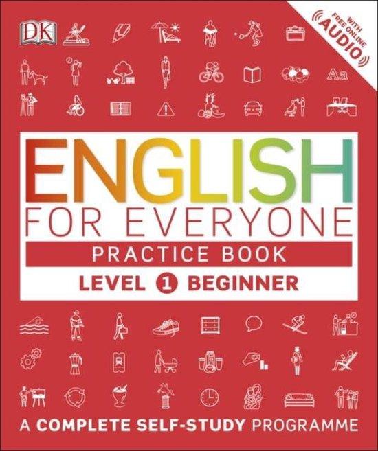 Boek cover English for Everyone Practice Book Level 1 Beginner van Dk (Paperback)
