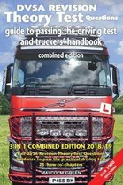 DVSA revision theory test questions, guide to passing the driving test and truckers' handbook