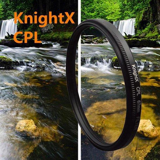Polarisatie Filter - 58 MM - Circulair CPL Foto Lens Filter - Voor Canon / Nikon / Sony Camera
