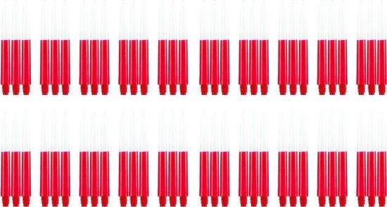 Dragon darts - Two Tone rood - medium - dart shafts - multipack 20 sets - darts shafts