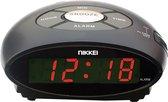 Nikkei NR10BK - Digitale Wekker met Snooze-functie - Zwart