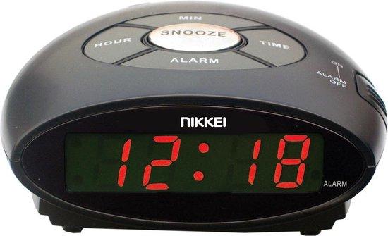 Nikkei NR10BK digitale wekker met snooze-functie - zwart