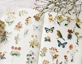 80 Vintage Flora en Fauna Vellum Stickers - Meer Leuks