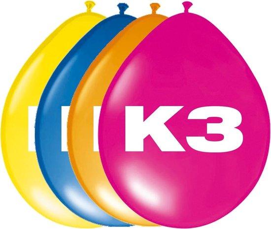 Ballonnen K3: 8 stuks (65605)