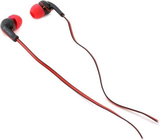 Platinet PM1031 Headset In-ear Zwart, Rood