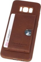 Bruin Hardcase cover Hoesje voor Samsung Galaxy S8