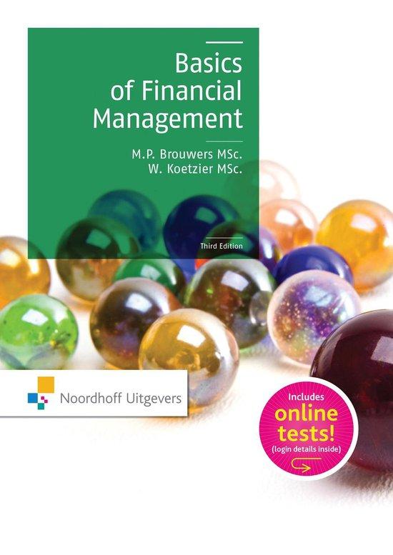 Boek cover Basics of financial management van M.P. Brouwers (Paperback)