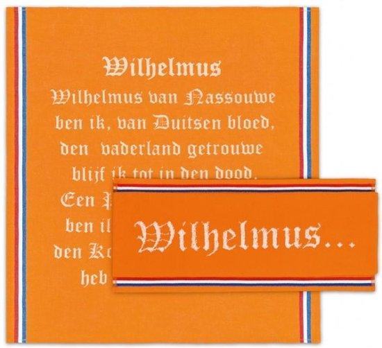 DDDDD Keukenset Wilhelmus Oranje - 6 Keukendoeken en 6 theedoeken