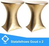 Statafelrok Luxe Goud x 2 - ∅80 x 110 cm  - Statafel Tafelrok set van 2 - Statafelhoes