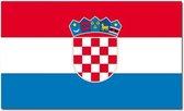 Vlag Kroatie 90 x 150 cm feestartikelen - Kroatie landen thema supporter/fan decoratie artikelen