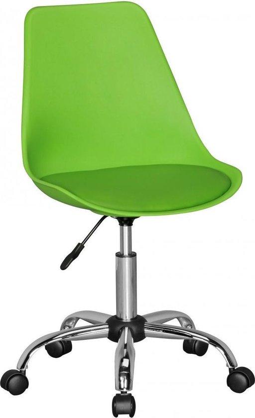 24Designs Bureaustoel Dex Office In Hoogte Verstelbare Groene Kuipstoel Op Wielen