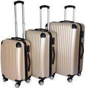 Biko - Kofferset 3-delig champagne - hardshell - verrijdbaar