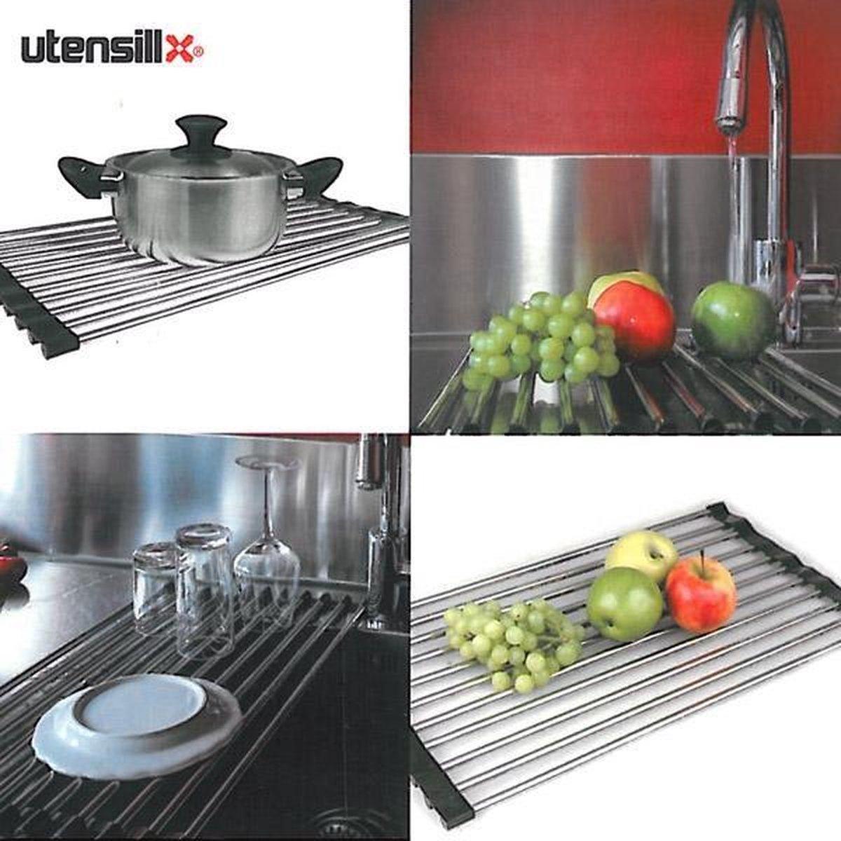 Utensill multifunctioneel keukenrek - Afdruiprek - Pannen onderzetter - Utensill