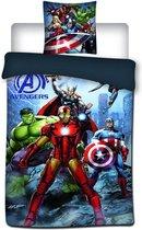 Marvel Avengers Iron Man - Dekbedovertrek - Eenpersoons - 140x200 - Multi