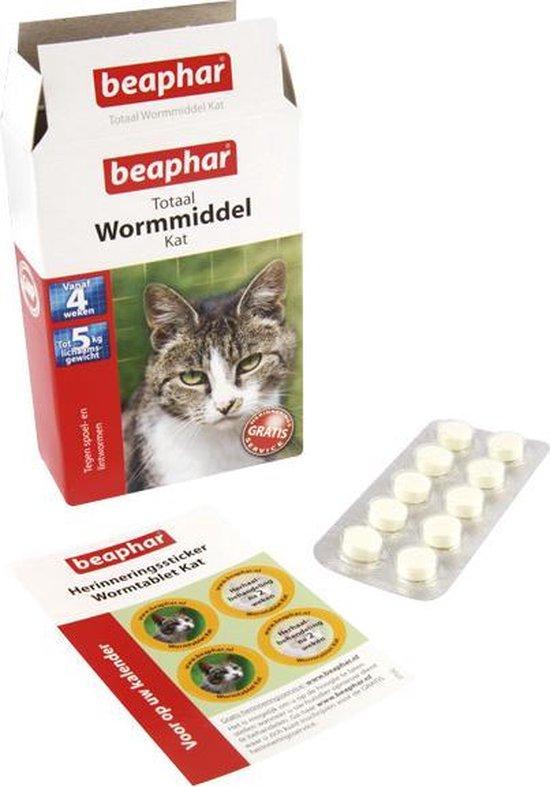 Beaphar Totaal Wormmiddel - Kat - 10 tabletten - Beaphar