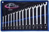 TecTake - Steekringsleutel set 14 delig - chroom-vanadium - 402495