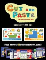 Worksheets for Kids (Cut and Paste Planes, Trains, Cars, Boats, and Trucks)