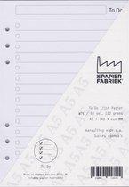 Aanvulling To Do 120g/m²   Wit Notitiepapier voor A5 Succes, Filofax of Kalpa   Organizers 100 Pag