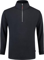 Tricorp Sweater ritskraag - Casual - 301010 - Navy - maat L