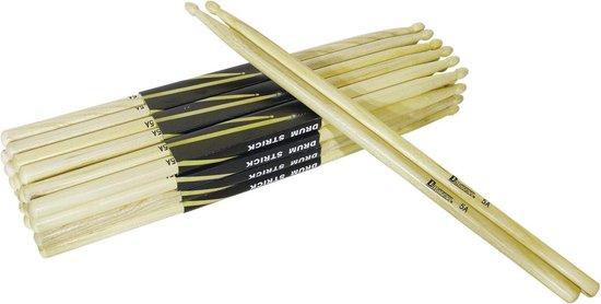 Dimavery DDS-5A Drumstokken - Eiken - Houten tip - Dikte 5a - Drumsticks - 2 Stuks Drumstick / Drums