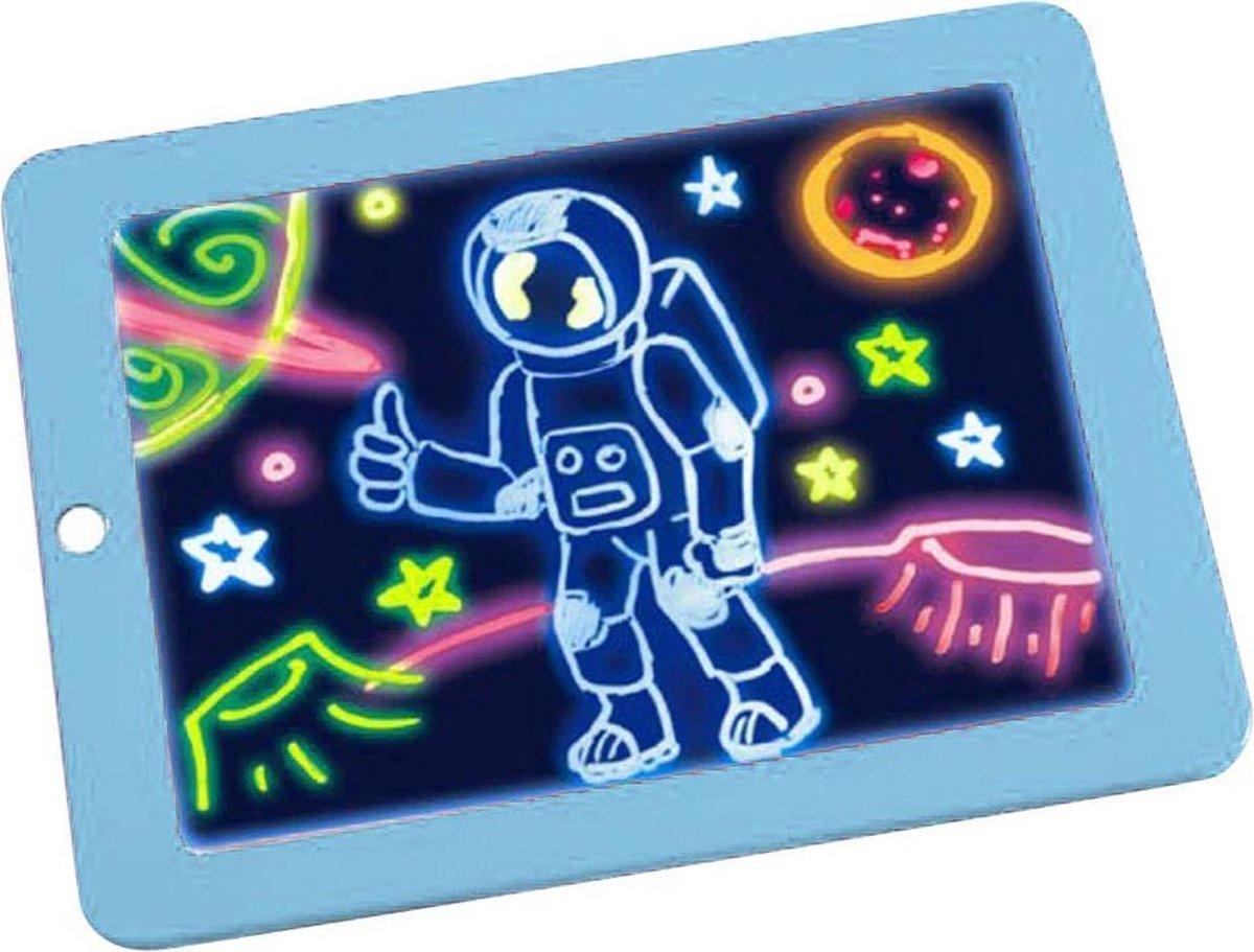 3D Magische Elektronisch Magnetische Schrijfbord - Digitale Tekentablet - Drawing Tablet - Teken Tablet Met LCD Scherm - 26 x 19 cm - Blauw