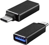 DW4Trading® USB C 3.1 male naar USB A 3.0 female adapter verloop zwart