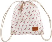 Lauren Sterk Amsterdam - rugzak - dames - canvas - Flamingo - wit