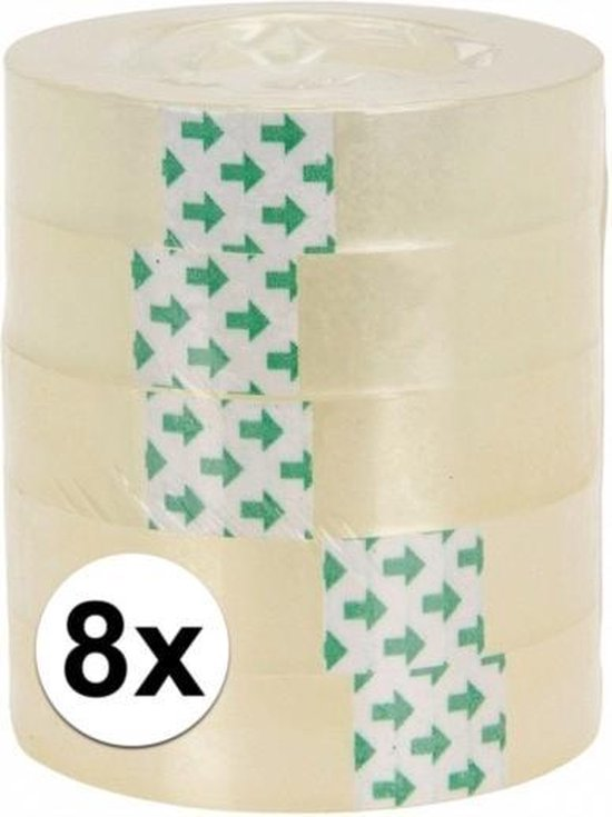 Afbeelding van 8 rolletjes plakband