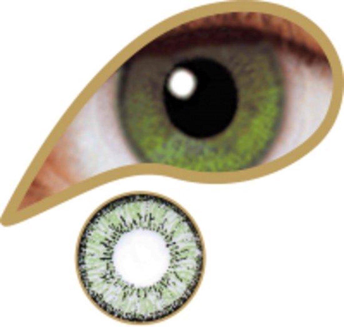 MesmerEyez - Coral Green - Green - Olive Green - 1 dag lens - MesmerEyez