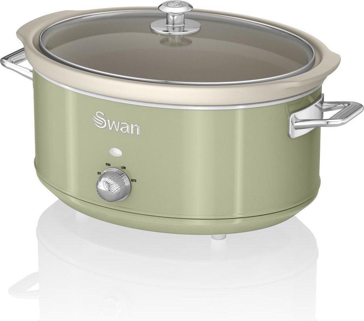 Swan Retro Slowcooker Groen 6.5 liter online kopen