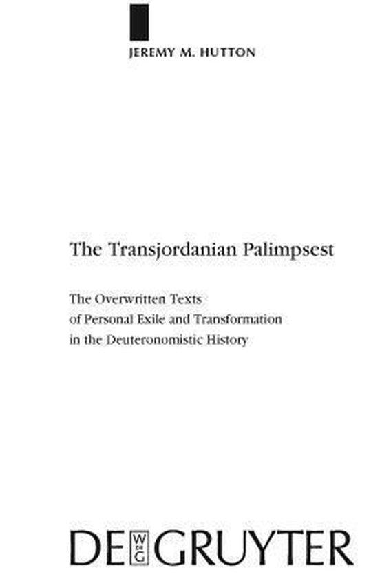 Boek cover The Transjordanian Palimpsest van Jeremy M. Hutton (Hardcover)