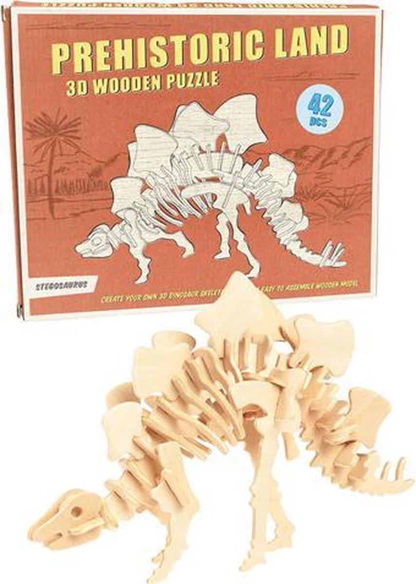 3D houten puzzel Prehistoric Dinosaurus - Stegosaurus - Rex London