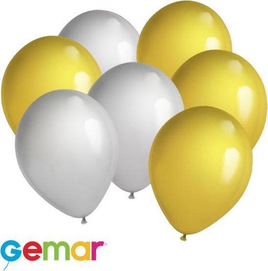 30x ballonnen Metallic Goud en Zilver (Ook geschikt voor Helium)