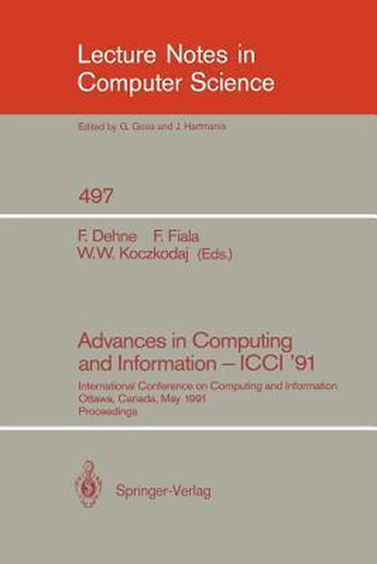 Advances in Computing and Information - ICCI '91