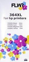 FLWR - Inktcartridge / 364XL / Multipack / Zwart & Kleur - Geschikt voor HP