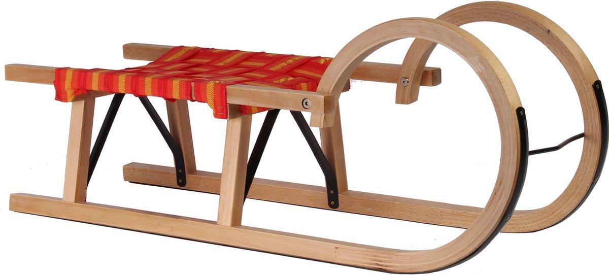 Talen Tools houten slede 95 cm met textiel zit