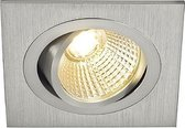 NEW TRIA LED DL SQUARE Set, Downlight, alu-brushed,6W,38°, 2700K, incl.driver, retaining springs