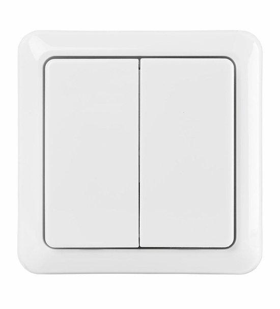 KlikAanKlikUit Opbouw Dubbele Schakelaar - Draadloos - AWST-8802